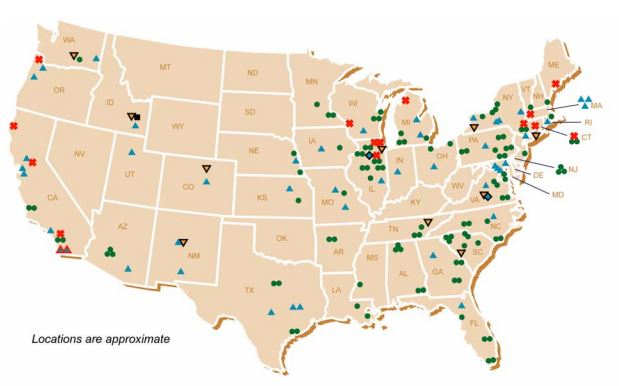 The Yucca Mountain Nuclear Waste Dump A Political Hot Potato Is Back - Us nuclear waste sites map