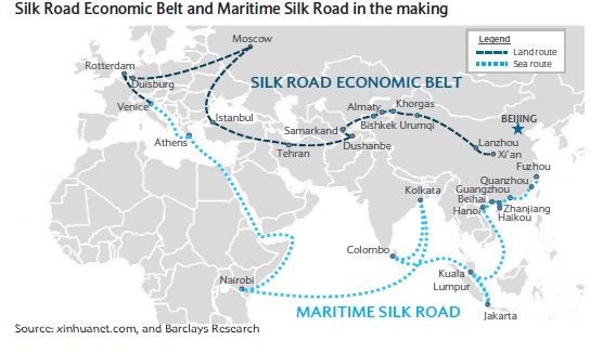 Chinas One BeltOne Road Initiative Silk Road Economic Belt - Us new silk road map