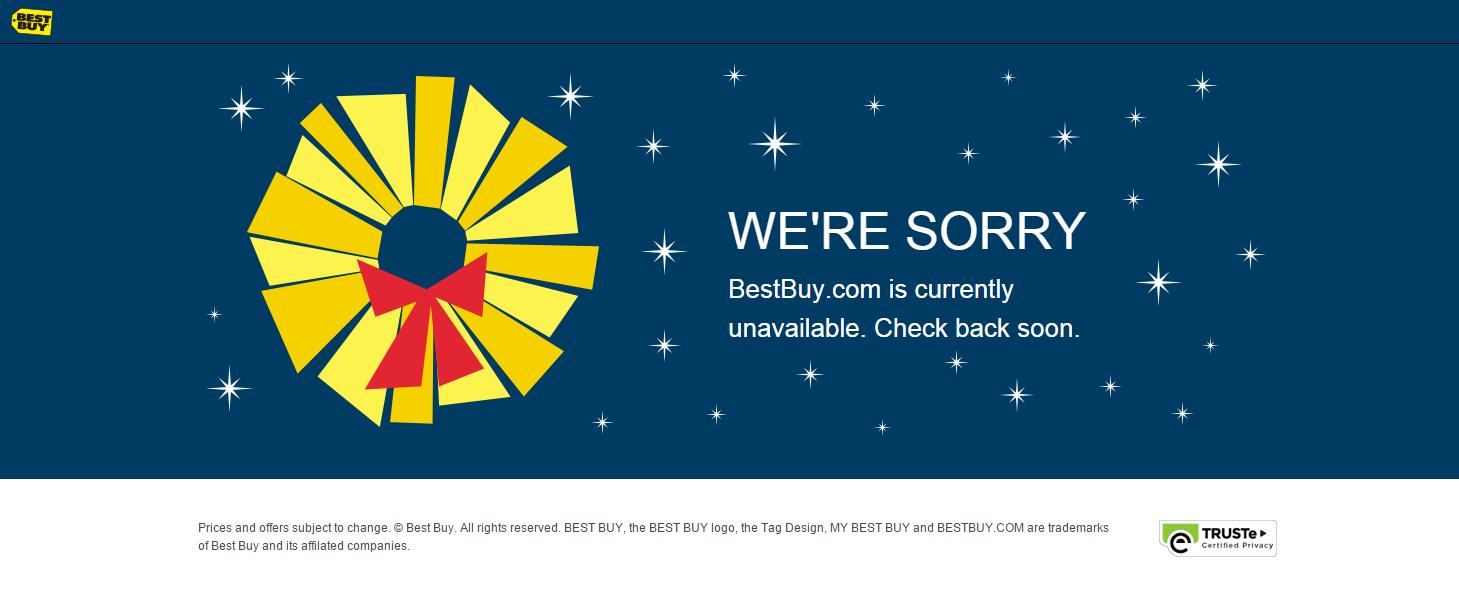 Best buy 39 s website down on black friday for Best selling websites online