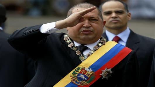 Venezuela's President Hugo Chavez (AP Photo/Fernando Llano)