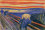 FILE - This undated photo provided by Sotheby&#039;s shows &quot;The Scream&quot; by Norwegian painter Edvard Munch. The work, which dates from 1895 and is one of four versions of the composition, will lead Sotheby&#039;s Impressionist &amp; Modern Art Evening Sale in New York on May 2, 2012. (AP Photo/Sotheby&#039;s, File)