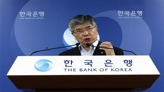 Kim Choong-soo, Governor of the Bank of Korea.