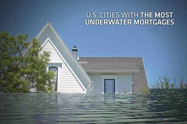 "For individual homeowners, being ""underwater"" on a mortgage – when a home is worth less than outstanding debt, also known as ""negative equity"" – is one of the worst positions to be in, short of foreclosure. However, if you're currently underwater on a mortgage, you're not alone. a firm that compiles US real estate and mortgage information, has put together a list of the 154 largest metro areas that includes statistics on median home values, market changes and the proportion of homes with negativ"