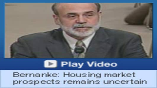 Chairman Ben Bernanke's opening remarks contain references that indicate housing market prospects are uncertain.