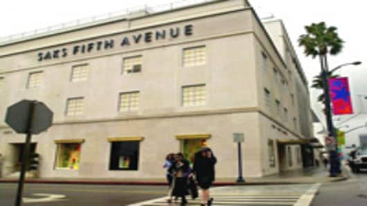 A Saks Fifth Avenue store in Beverly Hills, California.