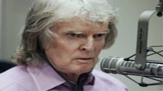 "Radio personality Don Imus appears on Rev.Al Sharpton's radio show, in New York Monday April 9, 2007. Imus issued another apology for referring to the Rutgers women's basketball team as ""nappy-headed hos"" on his morning show last week. (AP Photo/Richard Drew)"