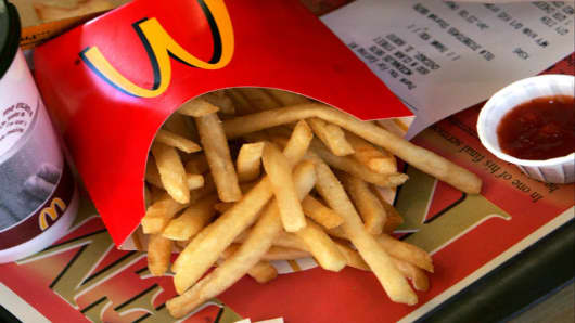 McDonald's famous french fries.