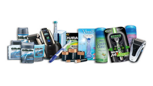 Gillette's Family of Billion Dollar Brands. (PRNewsFoto)