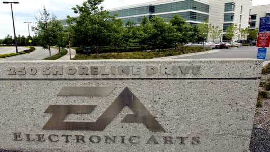 The Electronic Arts headquarters in Redwood City, California.