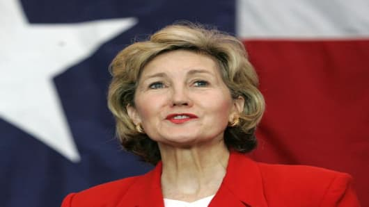 Texas Senator Kay Bailey Hutchison.
