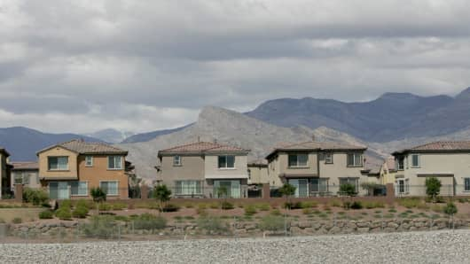 Newly built homes in Las Vegas