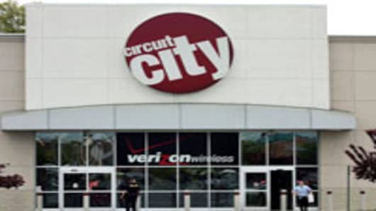 A Circuit City store in Mount Laurel, New Jersey.