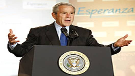 George W. Bush, speaks about immigration reform during an address at the National Hispanic Prayer Breakfast, Washington, DC.