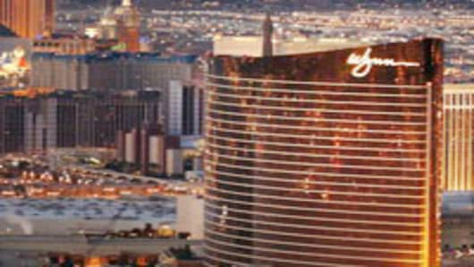 "The Wynn Resort is seen on the north end of the Las Vegas ""strip."""