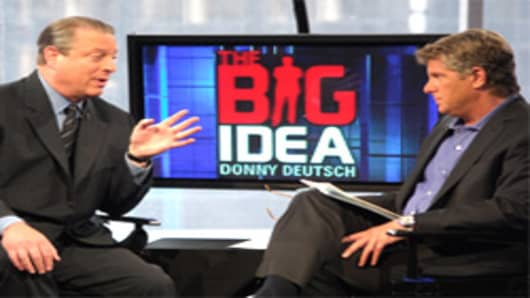 Donny Deutsch with Al Gore