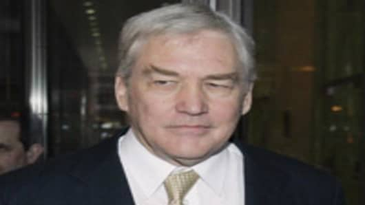 Conrad Black leaves a federal courthouse in Chicago on Januart 12, 2007.