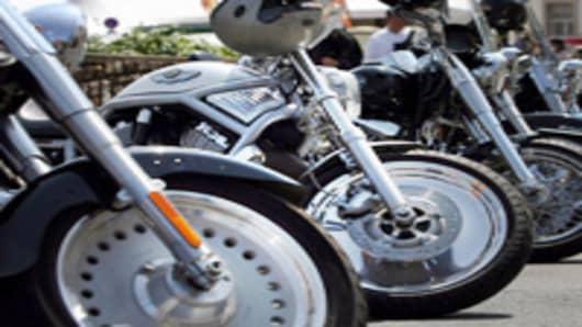 Harley-Davidson motorcycles.