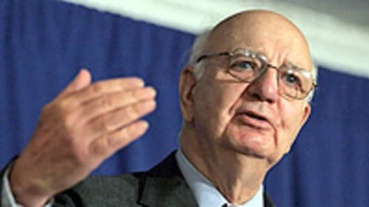 Former U.S. Federal Reserve Chairman Paul Volcker