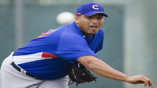 Chicago Cubs pitcher Carlos Zambrano.