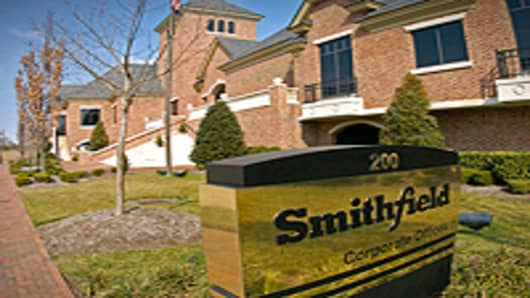 Smithfield Foods Inc.'s corporate offices in Smithfield, Virginia.