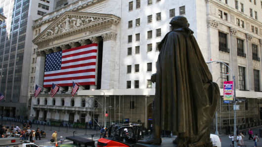 The New York Stock Exchange, downtown Manhattan.