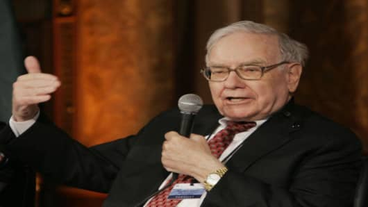 Investor Warren Buffet participates in the Treasury Conference on U.S. Capital Market