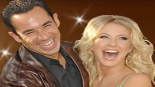 Helio Castroneves and Juliana Hough