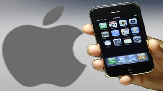 The new Apple iPhone is seen Friday, June 29, 2007 in New York.  (AP Photo/Jason DeCrow)
