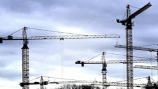 Five Construction Cranes
