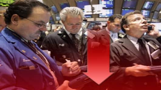 Stocks down