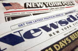 The mastheads of the New York Post and Newsday are seen in this photo in New York, Friday, March 21, 2008. Media conglomerate Tribune Co. reported a $78 million fourth-quarter loss from continuing operations Thursday as it copes with the historic downturn in the newspaper industry. Chairman and CEO Sam Zell also confirmed that the company has begun a strategic review of assets, as a report surfaced that News Corp. chairman Rupert Murdoch has made a bid for Tribune&#039;s Long Island-based Newsday.. (