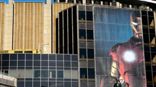 Iron Man promo on New York City's Madison Square Garden.