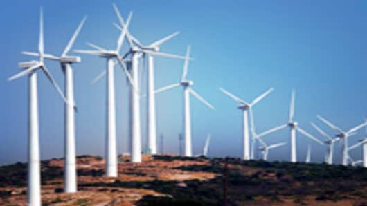 Wind farm in Evia, Greece
