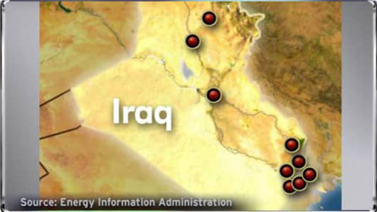 Iraqi Oil Field Map