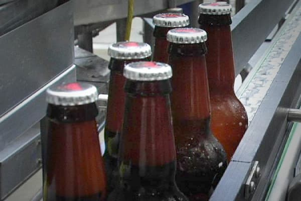 Moving at lightening speed, this packaging plant in St. Louis, Missouri,  manufactures 1,350 bottles of beer per a minute.  It takes less than two hours to bottle and case beer from start to finish.