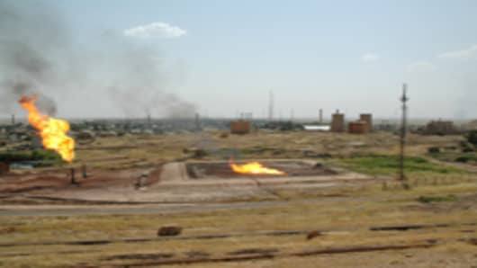 Oil fields in Kirkuk.