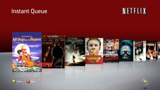 The Netflix queue on Microsoft's Xbox 360.