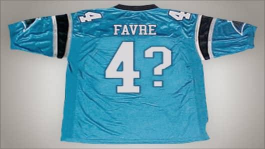 Brett Favre's #4 jersey.