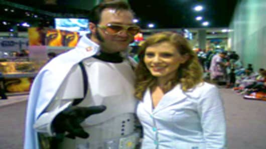 Julia Boorstin at Comic Con in San Diego.