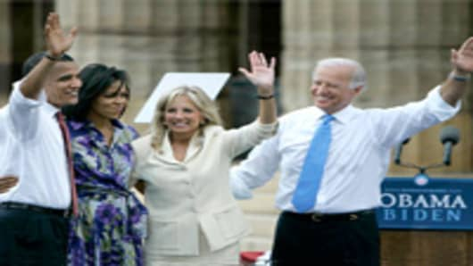 Barack Obama, Michelle Obama, Jill Biden, and Joe Biden