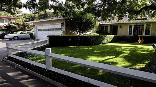 Susan Wojcicki's house in Menlo Park, which contains the garage Larry and Sergey rented for their new company.