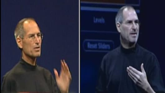 Steve Jobs now and then (2005).