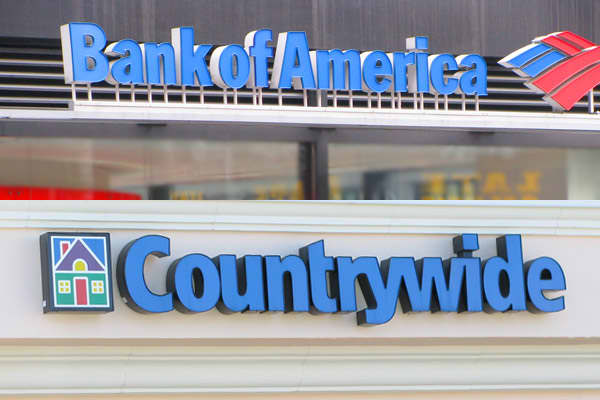 Bank of America buys the rapidly sinking mortgage lender Countrywide Financial for $4 billion in an all-stock deal.