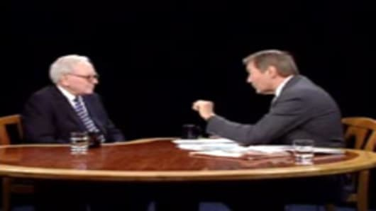Warren Buffett appears on the Charlie Rose program, October 1, 2008