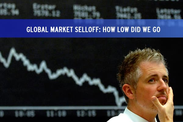 Global Market Selloff : How Low Did We Go?