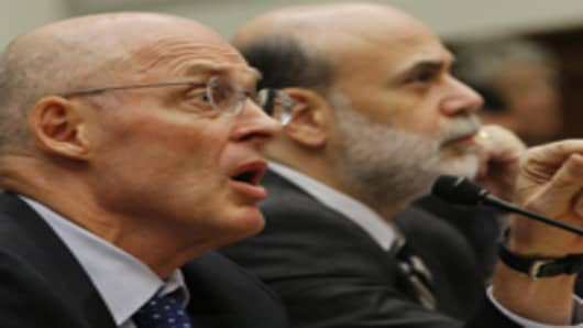 Treasury Secretary Henry Paulson, left, and Federal Reserve Chairman Ben Bernanke.