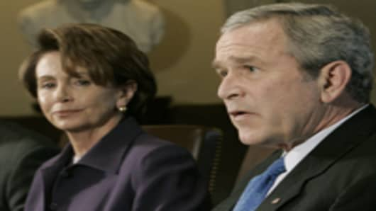 President Bush and House Speaker Nancy Pelosi.