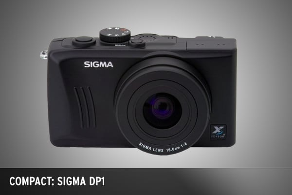 Known for its high-quality, inexpensive lenses for Canon and Nikon DSLRs, Sigma's much-anticipated compact DP1 has the same Foveon X3 sensor as the more professional Sigma SD14 DSLR has, which makes it the first compact camera ever to be made with an SLR-sized sensor. The DP1 also has QVGA video capturing ability, a 2.5-inch LCD and a wide, fixed 28mm f/4 lens.14MP Yes$699