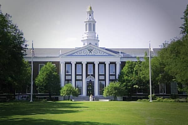 The Harvard Business School was incorporated in 1908 but it wasn't until 1924 with the help of a $5 million fundraising campaign that construction of a campus began at its present location.