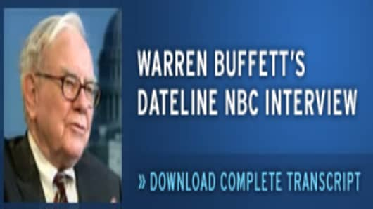 Download the Complete Transcript of Warren Buffett's Dateline NBC Interview